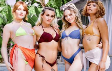 Lacy Lennon, Lily Larimar, Indica Monroe, Apryl Rein – Indoor-Strandparty – Webyoung (GirlsWay)
